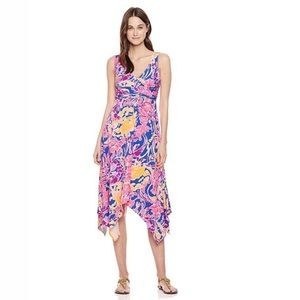 Lilly Pulitzer Sloane Midi Dress Catch and Release